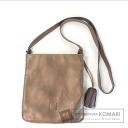 Authentic LOEWE  Tassel slanting cliff Shoulder bag Leather