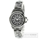 Authentic CHANEL J12 8P Diamond Watch Ceramic   Ladies