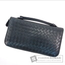 Authentic BOTTEGA VENETA  Intrecciato Travel Case business bag Leather