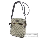 Authentic GUCCI  GGpattern seat angle Shoulder bag PVC Leather