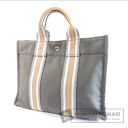 Authentic HERMES  Sac Fourre Tout PM Ginza limited model Tote bag Canvas