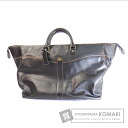 Authentic Dunhill  with logo Boston bag Leather