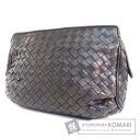Authentic BOTTEGA VENETA  Intrecciato Cosmetics Pouch Leather