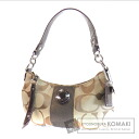Authentic COACH  Signature F19218 Shoulder bag Canvas