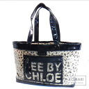 Authentic SEE BY CHLOE  Leopard Tote bag Vinyl