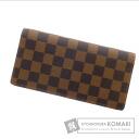 Authentic LOUIS VUITTON  brazza portefeuille N60017 (With coin purse) Purse Damier Canvas