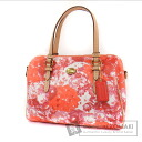 Authentic COACH  Flower pattern Shoulder bag PVC