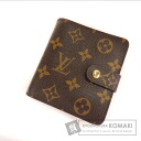 LOUIS VUITTON compact ZIP Zip around M61667 two-fold wallets (purses and) Monogram Canvas ladies