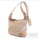 Authentic COACH  6386 Mini Signature Shoulder bag Canvas Leather