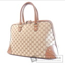 Authentic GUCCI  GGpattern studs Handbag Canvas Leather