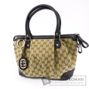 Authentic GUCCI  GGpattern 2way Shoulder bag Canvas Leather