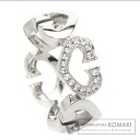 Authentic CARTIER  C Heart 1P diamond Ring 18K White Gold