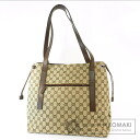 Authentic GUCCI  Logo pattern Shoulder bag Canvas