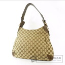 Authentic GUCCI  GGpattern Shoulder bag Canvas