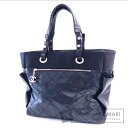 Authentic CHANEL  COCO Mark Tote bag Leather