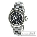 Authentic CHANEL J12 H1625 12P diamond Watch Ceramic   Ladies