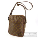 Authentic LOUIS VUITTON  Old type Danube seat angle Shoulder bag Monogram canvas