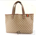 Authentic GUCCI  GG pattern webbing line Tote bag PVC