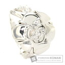 Authentic CHANEL  Camellia Flower Ring 18K White Gold