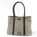 Authentic GUCCI  GGpattern Tote bag PVC Leather