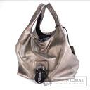 Authentic LOEWE  Padlock Shoulder bag Leather