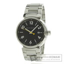 Authentic LOUIS VUITTON Tambour Watch stainless steel stainless steel  Men