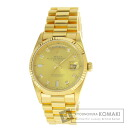 Authentic ROLEX Day-Date bucket diamond Watch 18K yellow gold   Men