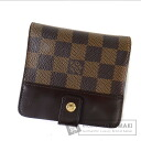 Authentic LOUIS VUITTON  Compact zip N61668 (With coin purse) bi-fold wallet Damier Canvas