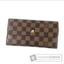 Authentic LOUIS VUITTON  Porte Tresor International N612187 (With coin purse) Purse Damier Canvas