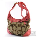 Authentic COACH  12718 Ergo Signature Shoulder bag Canvas Leather