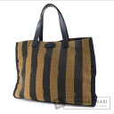 Authentic FENDI  Pecan pattern border Tote bag Nylon Canvas