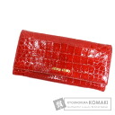Authentic MIUMIU  Embossing (With coin purse) Purse Patent leather