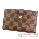 Authentic LOUIS VUITTON   (With coin purse) bi-fold wallet Damier Canvas