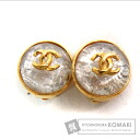 Authentic CHANEL  COCO Mark ball type Earring Metal