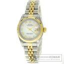 Authentic ROLEX Datejust Watch stainless steel SSxK18YG  Ladies