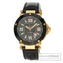 Authentic Guess 93001G2 Watch Gold Plated Leather  Men