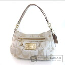Authentic COACH  Signature 15 317 Shoulder bag Canvas