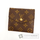 Authentic LOUIS VUITTON  Porutomonebie old M61660 W hook (With coin purse) bi-fold wallet Monogram canvas