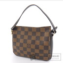 Authentic LOUIS VUITTON  Truth makeup pouch N51982 Accessory pouch Damier Canvas