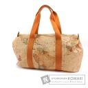 Authentic PRIMA CLASSE  Map pattern Boston bag Leather
