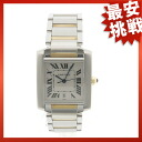 CARTIER タンクフランセーズ LM watch SS/K18YG men