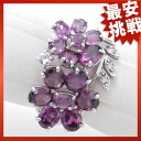 SELECT JEWELRY garnet / diamond K14WG ring Lady's ring