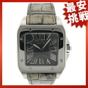 100 CARTIER Santos W20134X8 サマーリミテッド watch SS/ leather men