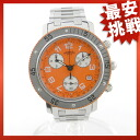 HERMES diver chronograph CL2.916.830 SS watch for men