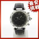 CARTIER Pasha Chrono 950 watch Pt950 / leather men's