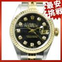 ROLEX oyster date just 79173G SS X 18K clock
