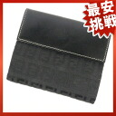 FENDI Zucca W hook wallet 2 fold wallet (purse and) canvas x Leather Womens