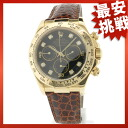 ROLEX Daytona 116518 G watch YG / leather men's