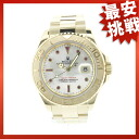 ROLEX16628NGR yacht master watch K18YG men