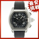CARTIER roadster old type watch SS/ leather men